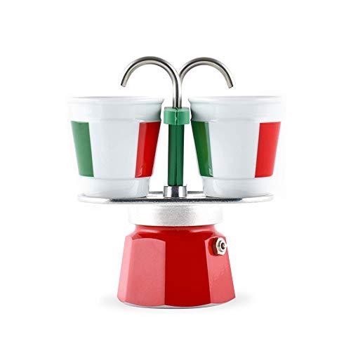 Bialetti–0006196–Espressokocher + 2Tassen Bicchierini Italia Mini Express
