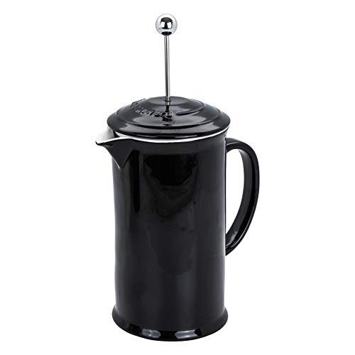 Argon Tableware Sibel glasierte Keramik Kaffeebereiter – Schwarz – 1 Liter / 4-Schale Kaffee Press