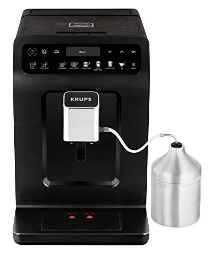 Krups EA8948 Evidence Plus Kaffeevollautomat automatische Reinigung, 2-Tassen-Funktion, OLED-Display, 15 bar, Espresso-Kaffee-Maschine, Kaffeeautomat chrome