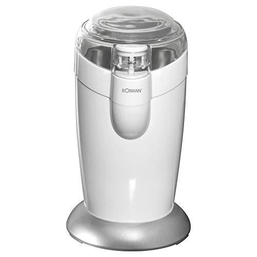 Bomann KSW 446 CB // Elektrische Kaffeemühle mit Schlagwerk // Edelstahl // 40 g Fassungsvermögen // Impuls-Betrieb // 120 Watt