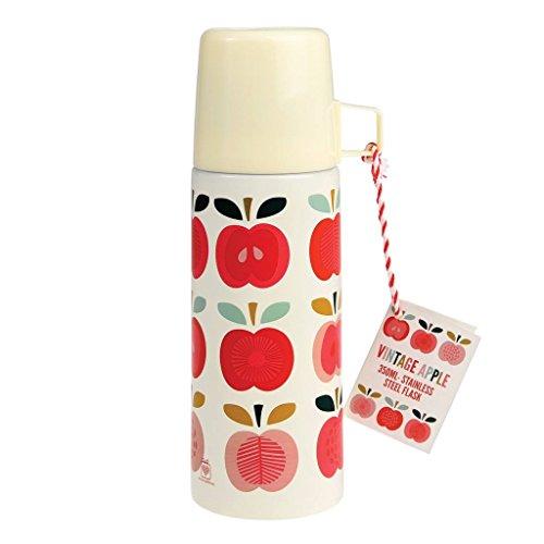 dotcomgiftshop Thermoskanne 27059 Vintage Apple mit Äpfeln