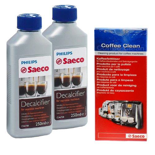 Set von Saeco für Kaffeevollautomaten, KaffeeautomatenM, 2 Flasche Saeco  – Reinigungs / Pflege