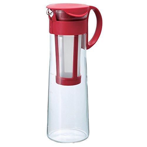 Hario MCPN-14R Kaffeebereiter, Glas, rot