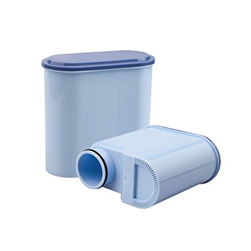 2 Stück Wasserfilterpatrone für Philips und Saeco Kaffeemaschinen, Wasserfilter zur Verhinderung von Kalkablagerungen für die automatische AquaClean-Kaffeemaschine CA6903 / 10/00/01/22/47