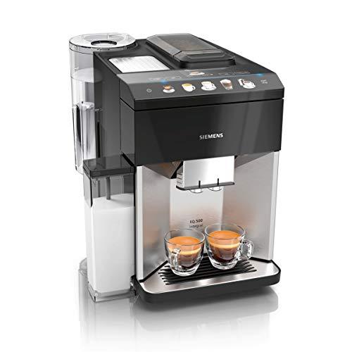 Siemens EQ.500 TQ507D03 integral Kaffeevollautomat einfache Bedienung, integrierter Milchbehälter, zwei Tassen gleichzeitig, 1.500 Watt