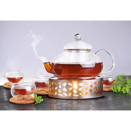 Queta Teewärmer Kaffee Stövchen aus Edelstahl mit Teelichthalter Tee-Basis