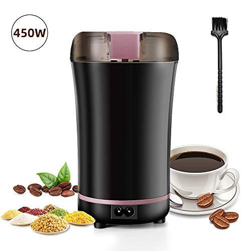 Kaffeemühle,POWERAXIS Elektrische Kaffeemühle 450W,Kaffeemühlen Grinder 50g mit Edelstahlmesser für Kaffeebohnen Nüsse Gewürze Getreide Mühle Nuß spice grinder