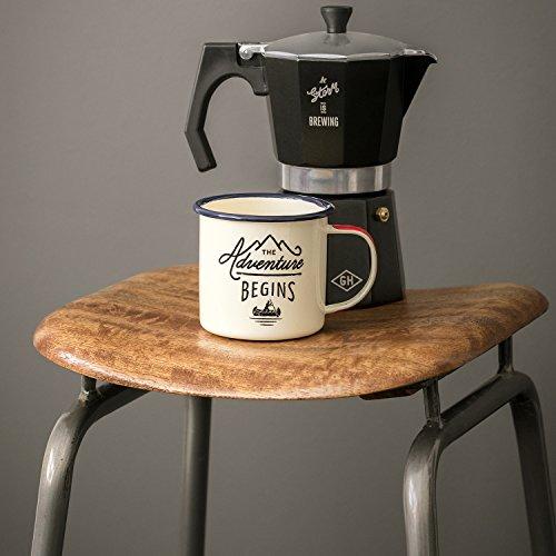 Gentleman´s Tools Kaffeemaschine, schwarz mit Silber Rand