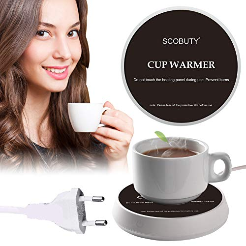 Tassenwärmer Getränkewärmer,Kaffeewärmer,2 geschwindigkeit einstellung temperatur Elektrischer Kaffee Becher Wärmer,mit Automatischer Schwerkraft-Sensor-Schalter für Tee Kaffee Milch Kaffeewärmer
