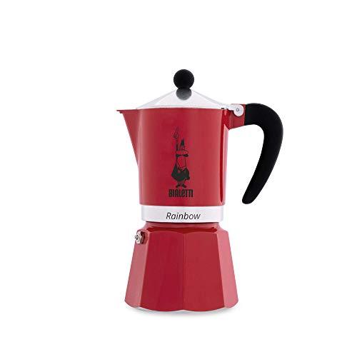 "Bialetti 4963 Espressokocher""Rainbow"" für 6 Tassen in Aluminium, Rot, 30 x 20 x 15 cm"
