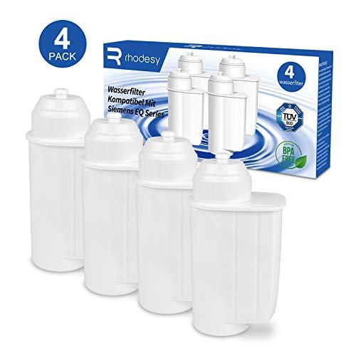 Rhodesy Wasserfilter für Siemens EQ 6/9 TZ70003, Filter Kompatibel mit Brita Intenza Siemens EQ Series TZ70033 Bosch TCZ7003 TCZ-7003 TCZ7033 4er Pack