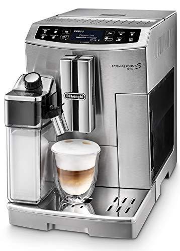 De'Longhi Primadonna S Evo ECAM 510.55.M Kaffeevollautomat mit integriertem Milchsystem, Touchscreen und App-Steuerung, automatische Reinigung, Edelstahl silber