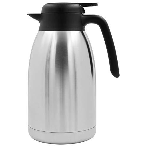 Thermoskanne aus doppelwandigem Edelstahl für bis zu 13 Tassen Kaffee oder Tee – TRINKBASIS Isolierkanne 2 L