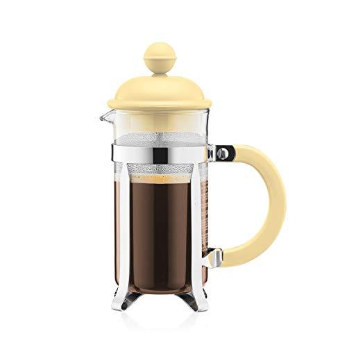 Bodum 1913-341B-Y19 CAFFETTIERA Kaffeebereiter mit Kunststoffdeckel, 3 Tassen, 0.35 l, Edelstahl, Glas